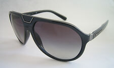 DOLCE & GABBANA SUNGLASSES DG 6071 501/8G BLACK AVIATOR GENUINE D&G BNWT