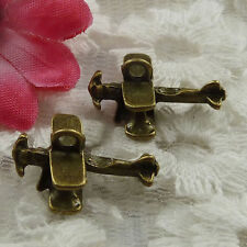Free Ship 50 pieces bronze plated airplane charms 19x12mm #865