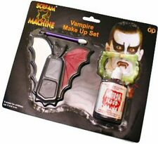 VAMPIRO DRACULA Count MAKE UP KIT Face Paint fake blood Set Fancy Dress p6801