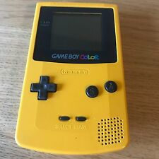 Yellow Nintendo Game Boy Color Console Handheld System PAL Tested - FAST POST