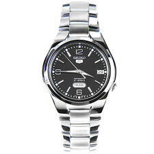 SEIKO 5 AUTOMATIC SEE THROUGH STEEL BLACK DIAL WATCH SNK623 SNK623K1