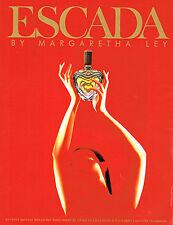 PUBLICITE ADVERTISING 094  1991  ESCADA parfum femme MARGARETHA LEY