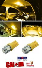 2x T10 194 168 LED Amber 5 LED 5050 SMD W5W Bulb Wedge Side Light Bulb Orange