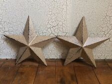 "Set of 2 ~ RUSTIC BLACK BARN STAR 5.5"" ALMOND PRIMITIVE COUNTRY FARMHOUSE 5 1/2"""