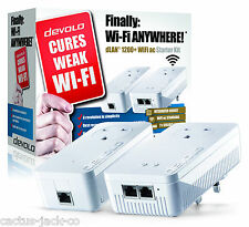 Devolo 9392 Powerline dlan 1200 + Wifi Ac pasan a través de dos LAN Starter Kit