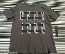 Dkny Gris con logotipo en la parte superior CAMISETA: tamaño S/8 años BNWT comprado @ Macys de Nueva York