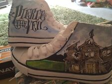 PIERCE THE VEIL HAND PAINTED HIGH TOPS CUSTOMISED TO ORDER