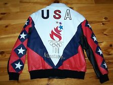1996 ATLANTA SUMMER OLYMPICS 100th ANNIV LEATHER JACKET - NEW WITHOUT TAGS!