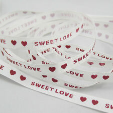 "5 Yards Satin 3/8"" 9mm Width sweet love color Grosgrain Ribbon Wedding craft ZG1"
