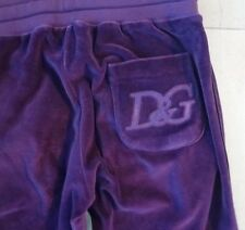 Auth NEW D&G by DOLCE & GABBANA Velour PURPLE Sport Running PANTS