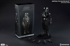 "Sideshow 12"" 1/6 Star Wars Episode IV A New Hope TIE Fighter Pilot Action Figure"