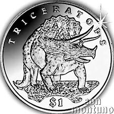 TRICERATOPS Lost World of Dinosaurs  $1 Unc Copper Nickel Coin 2006 SIERRA LEONE