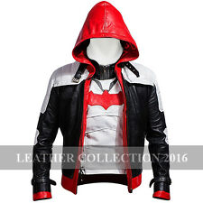 New Batman Arkham Knight Red hood Faux Leather High Quality Jacket & Vest