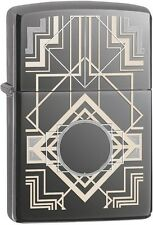 Zippo 28950 Art Deco Laser Engraved Black Ice 2015/2016 Choice Catalog Lighter