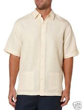 Cubavera Men S/S Two Pocket Button Front Shirt Italian Straw Yellow XL New