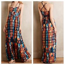 NWT Maeve $158 Noetzie Maxi Dress Small ANTHROPOLOGIE S Jersey Print