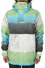 NEW Quiksilver LAST MISSION 10k Snowboard JACKET/ Mens M MEDIUM / Map print NWT