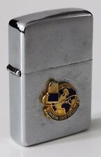 1963 Zippo Lighter w/ Factory Applied Logo Plaque of the American Stock Exchange