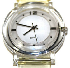 Clear White Yellow Black Plastic Analog Quartz Watch NEW Unisex Wristwatch 9.5''