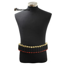 Tactical 25 Shotgun Shell Bandolier Belt Military 12 Gauge Ammo Holder Belt A
