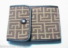 PIERRE BALMAIN FRENCH 1960s LEATHER CHECKBOOK WALLET - MONOGRAM LOGO SIGNATURE