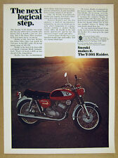 1968 Suzuki T-305 RAIDER Motorcycle color photo vintage print Ad