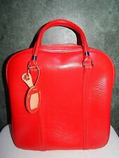 Vtg AMELIA EARHART Luggage Bag Carry On Suitcase Overnight Travel RED w KEY