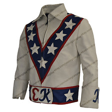 Evel Knievel costume leather Jacket / Evel Knievel motorcycle leather Jacket