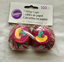 """Wilton Mini 1.25"""" Baking Cups Cupcake Liners 100 Ct Easter Purple Chick in Nest"""