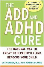 ADD & ADHD Book Hyperactivity Cure Natural, Nutrition Parenting TREATMENT TIPS