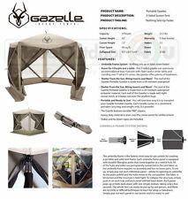 25500 Gazelle Portable Camping Yard Gazebo Screened Family Canopy 5 Sided