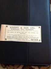 62-8 Ephemera December 1931 Advert Aucott & Son Margate Fashion House