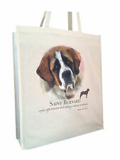 Saint Bernard (b) Cotton Shopping Bag with Gusset for Xtra Space Perfect Gift