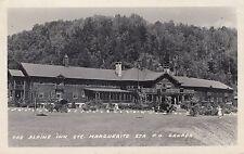 Alpine Inn STE MAGUERITE STATION Laurentides Quebec 1943 RPPC J. & E. Comellas