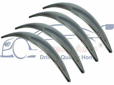 4 X Chrome Wing/Wheel Arch Trim Extensions Set (Front/Rear - Driver/Passenger)
