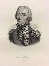 Maréchal André Masséna estampe de 1847