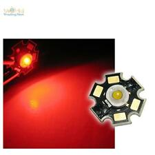 5 x Hochleistungs LED Chip 3W ROT HIGHPOWER STAR rote LEDs rouge red rojo