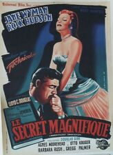 LE SECRET MAGNIFIQUE (MAGNIFICENT OBSESSION) Affiche orig Rock HUDSON,Jane WYMAN