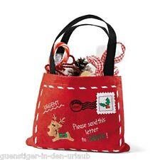 Filztäschen Post Santa Nikolaussocke Weihnachtsstiefel Weihnachtsbeutel Tasche