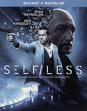 Selfless [Blu-ray], Excellent DVD, Ben Kingsley, Derek Luke, Victor Garber, Matt