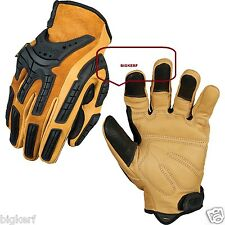 "LEATHER MECHANIX WEAR FULL FINGER GLOVES  ""WORK -- SPORT""  {LARGE}  CG50-75-010"