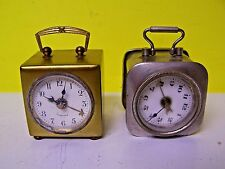 Vintage made in Germany miniature Alarm Clocks one Wurttemberg one Germany