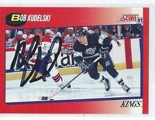 Bob Kudelski Signed 1991/92 Score Canadian Card #154