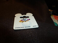 Disney Mickey Mouse Icon Crystal Ring✿Sterling Silver✿Size 6