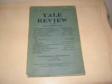1913 Yale Review Cromwell, Gilbert Murray & Greece, Maps, Poems, Others