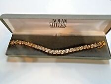 "New Nolan Miller Gold Rhinestone Bracelet 8"" Beautiful"