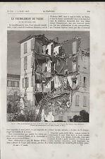 ANC. PAPIER SAINT ETIENNE 06 TREMBLEMENT DE TERRE 1887