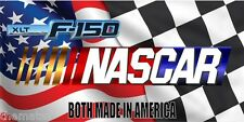 NASCAR FORD F-150 CAR METAL LICENSE PLATE CHECKERED FLAG   FREE USA  SHIPPING