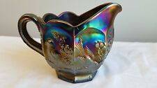 Antique Signed Northwood Singing Birds Amethyst Creamer Nice Surface!