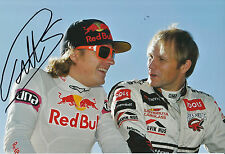 Petter Solberg Hand Signed Rally 12x8 Photo Kimi Raikkonen.
